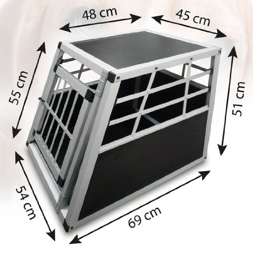 alu hundetransportbox auto hundebox eint rig autohundebox. Black Bedroom Furniture Sets. Home Design Ideas